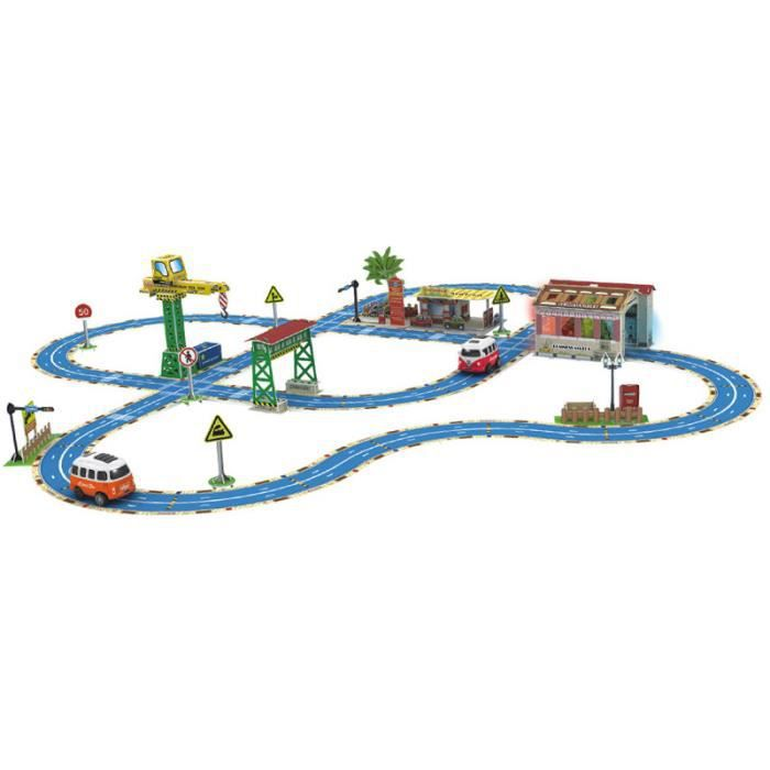 Grand Scène 3d Modèle Bricolage Enfants De Piste Jouets Voiture Stéréo Bus O80PZNnwkX