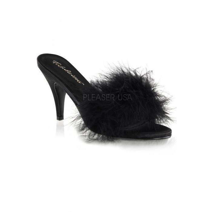 AMOUR- Chaussures avec Duvet noi...