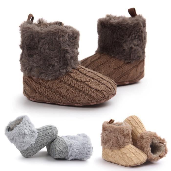 XZ725F3XZ725F3Chic Tricoté style main Crochet bébé enfant en bas âge Bottes - bottillons - Chaussures