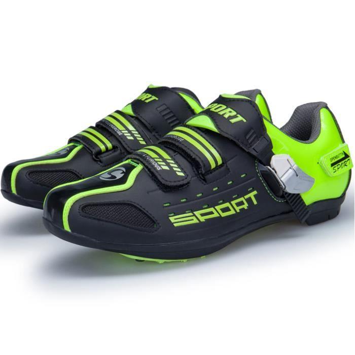 Vert Homme Chaussures Chaussure 44 De pointure Femme Route 36 Cyclisme Et Xbootsmalone® Vélo Noir TiPZkXOu