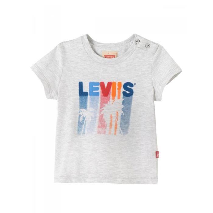 LEVI S - T-shirt manches courtes gris clair bébé garçon levi s Gris ... 500f9a01cd15