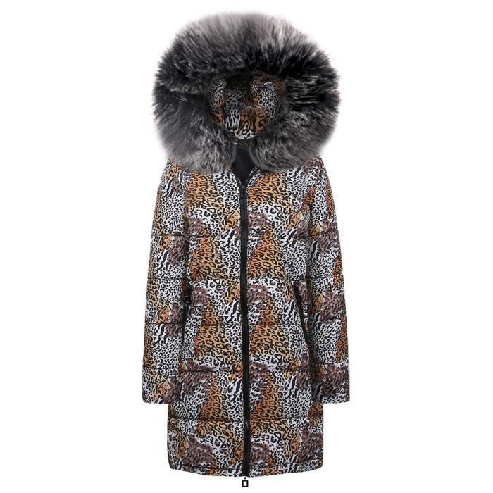 Outwear Manteau noir Coton Le Bas À Femmes Imprimé Léopard Veste Capuchon  Hiver Vers Doudoune Parka xqR1TBOq af15517ee9a