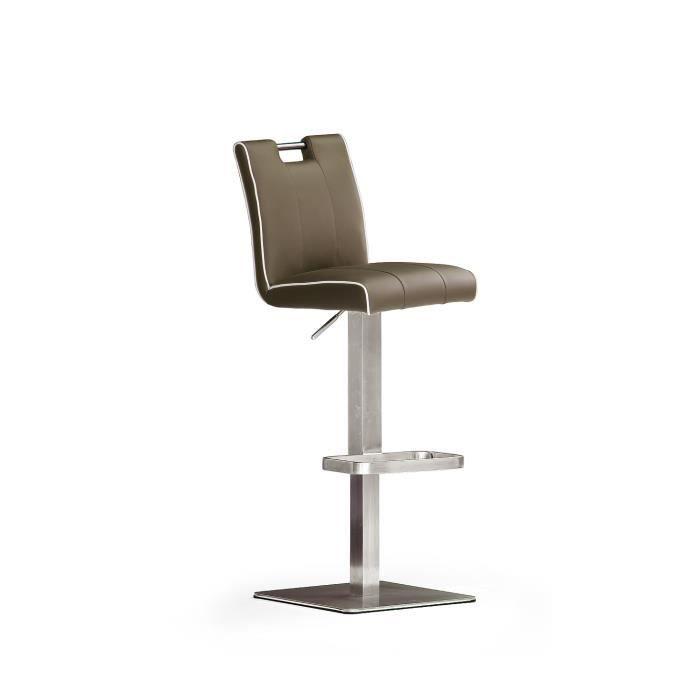 assise carré en cuir de chaise de bar