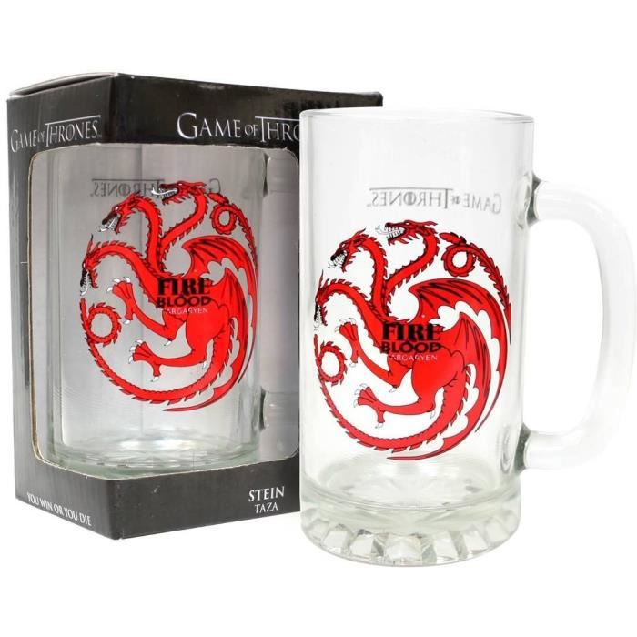 chope de biere game of thrones achat vente chope de biere game of thrones pas cher cdiscount. Black Bedroom Furniture Sets. Home Design Ideas