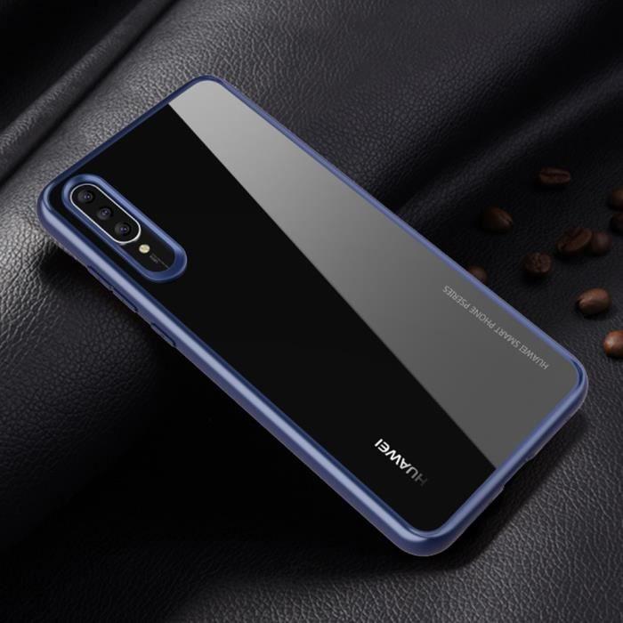 0a398e7e37908 Huawei P20 Pro Coque, SECONDLYN Ultraslim Hybrid TPU Bumper + La Face  Arriere Crystal Clair Étui Housse pour Huawei P20 Pro Bleu