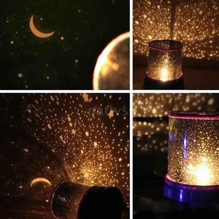 Lampe projecteur veilleuse romantique etoiles plan tarium cosmos achat vente - Veilleuse lumiere plafond ...