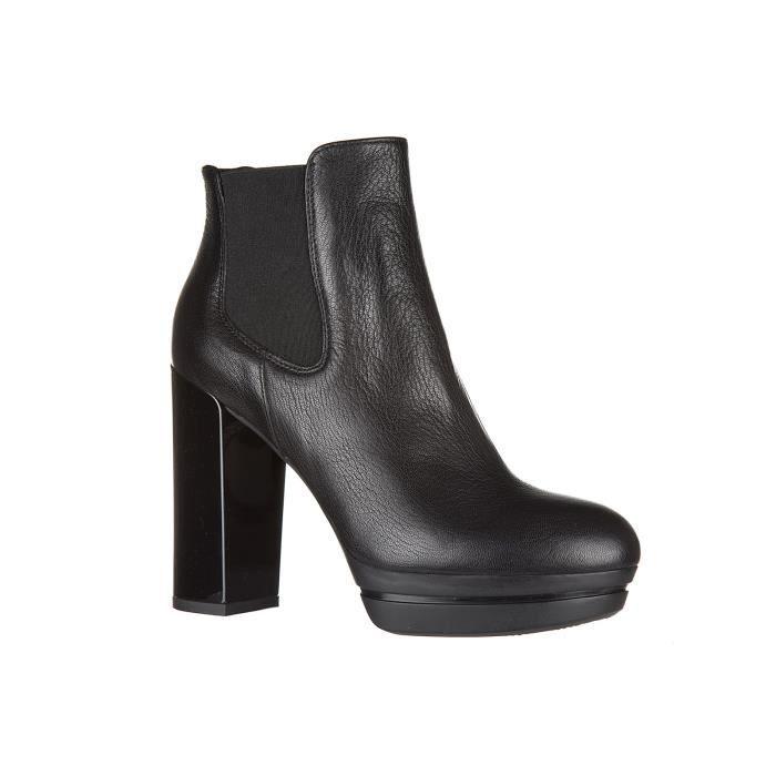 Demi bottes femme 'talon en cuir h299 opty Hogan