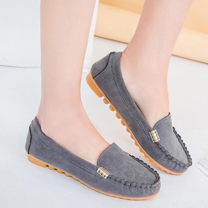 Bateau Chaussures 40 Chaussures Occasionnels De on Femmes Gris Slip gIxSwHYq
