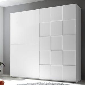 ARMOIRE DE CHAMBRE Armoire 220 cm design blanc laqué TIAVANO Blanc L