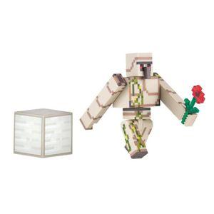 FIGURINE - PERSONNAGE MINECRAFT Figurine avec Accessoires Iron Golem