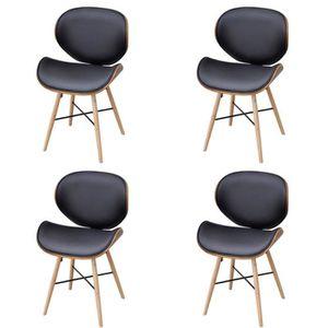 CHAISE Chaise de salle à manger 4 pcs Cadre en bois courb