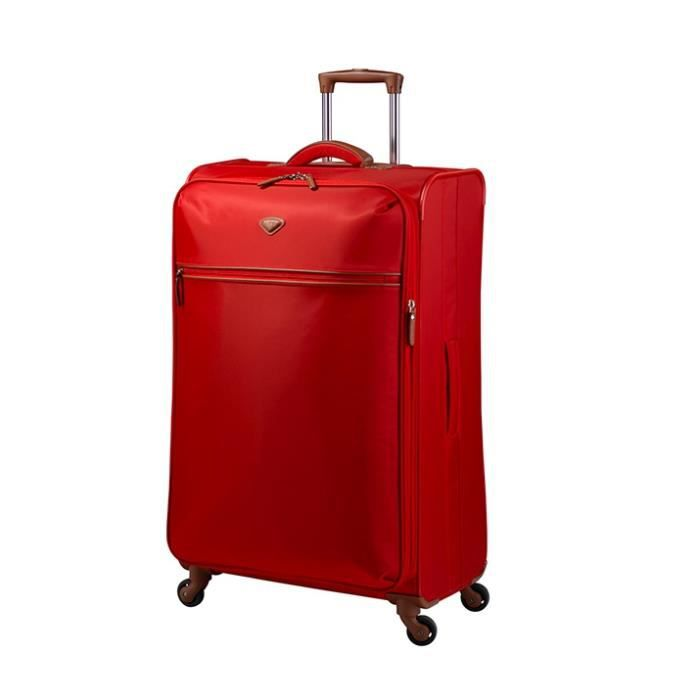 JUMP - NICE Valise Extensible 4 Roues Coquelicot
