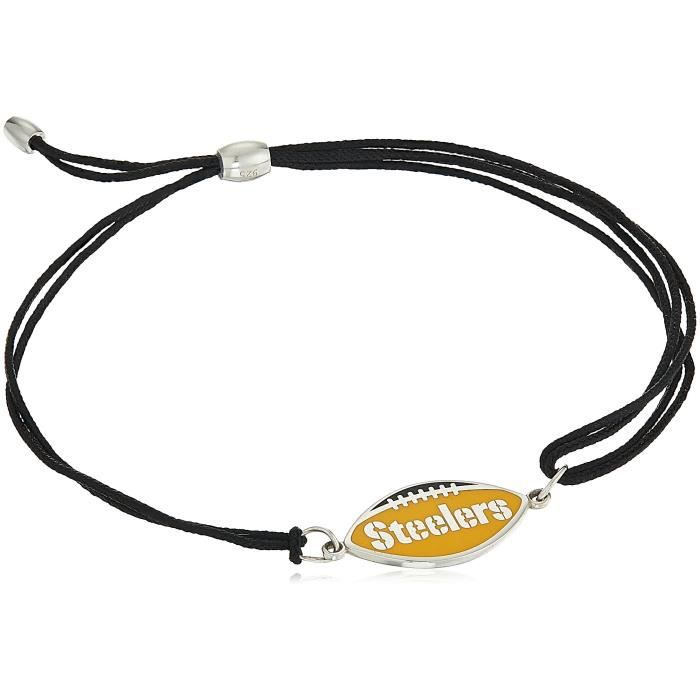 Alex And Ani Womens Kindred Cord Pittsburgh Steelers Bracelet UUUOU