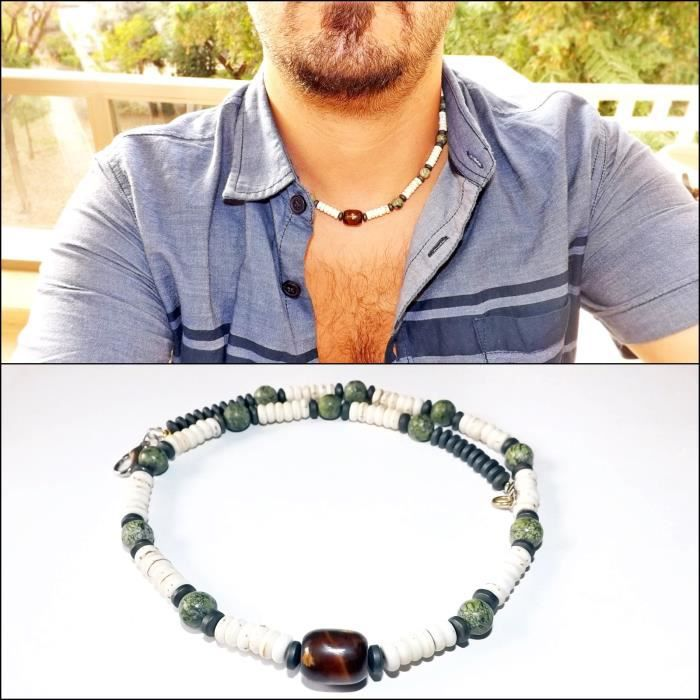Womens Gift For - Surfer Necklace - Real Gemstones Necklace - Neckless - Gifts For - Unisex Neckla UTGZR