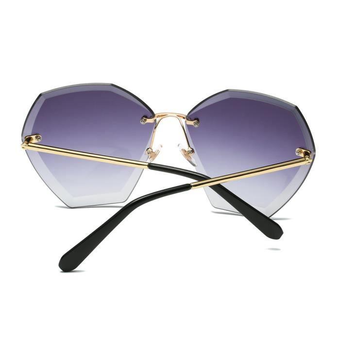Femmes hommes lunettes de soleil été vintage retro Square dégradé couleur  lunettes D7 dfdc0c017467