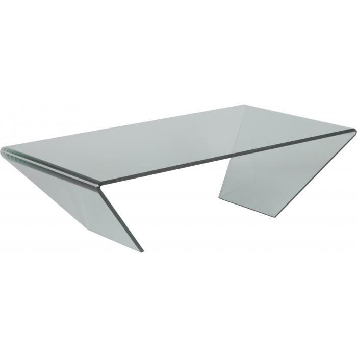 table basse design verre courbé - achat / vente table basse table