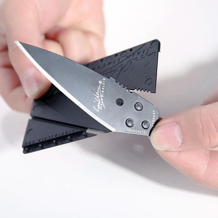 Couteau Militaire Amazon couteau carte de credit - achat / vente pas cher
