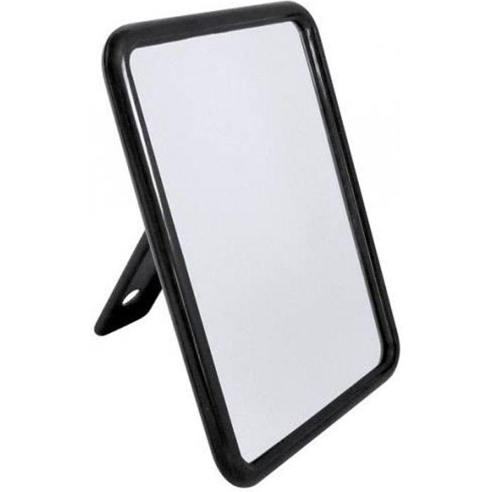 miroir rectangulaire noir achat vente miroir cdiscount. Black Bedroom Furniture Sets. Home Design Ideas