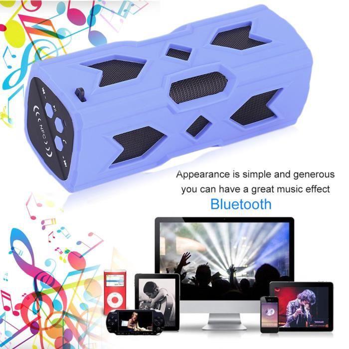 Haut-parleur Bluetooth Bleu Mobile De Puissance Nfc Stéréo Musique Sans Fil 3600 Ma