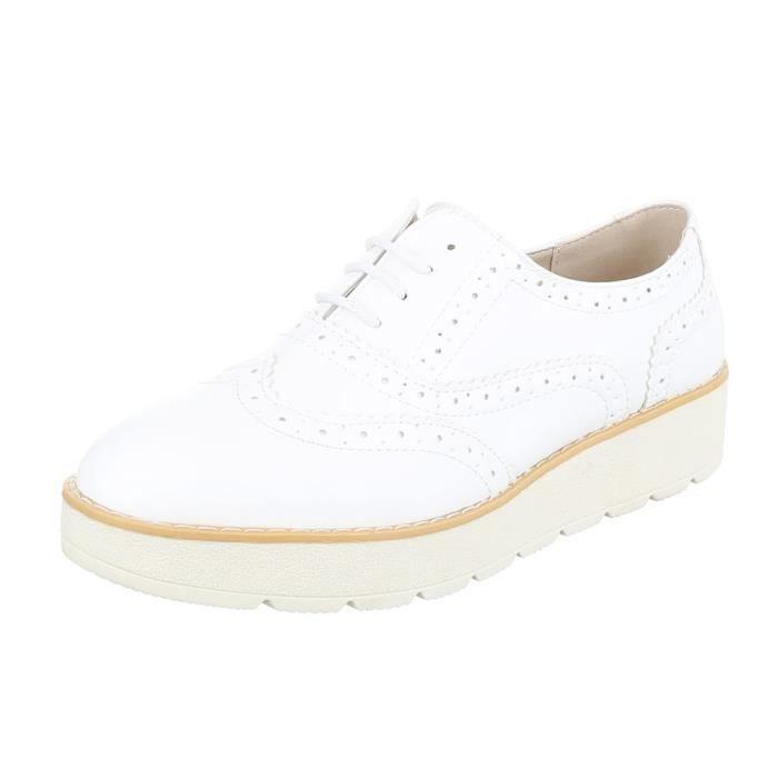 Femme chaussures flâneurs lacer blanc 40