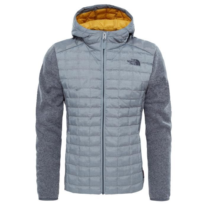 a3ea32d9ee9f2 Sweat-shirt à capuche The North Face THERMOBAL HYBRID GL HOODIE Gris ...