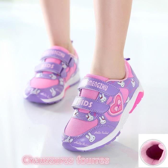 chaussure de Les filles sport d'hiver et la princesse chaud paragraphe confortable à l'extérieur des chaussures peluche