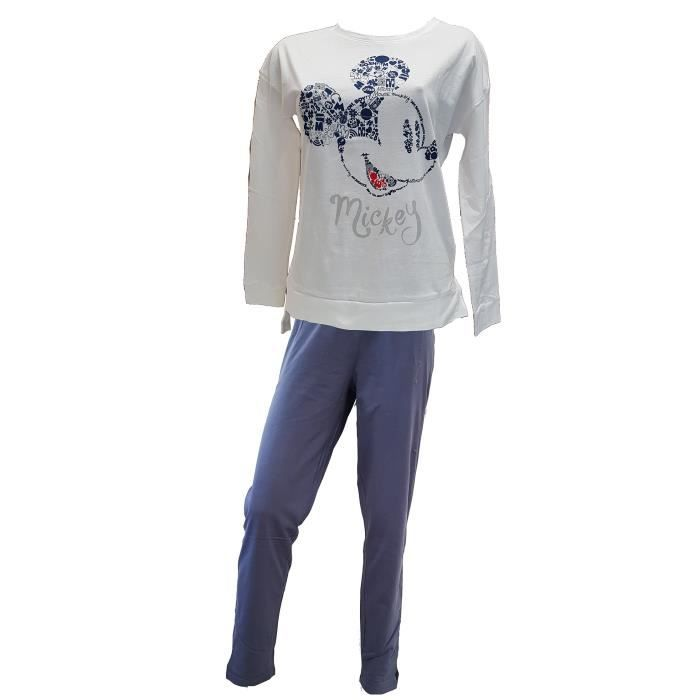 Rh3579 Long En Ensemble Mickey De Pyjama Femme Coton qXwwxS1fzE