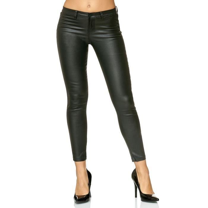 4008992aaecce2 Pantalon simili cuir femme - Achat / Vente pas cher