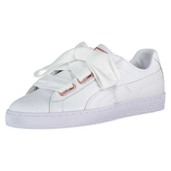 Chaussures Femme Baskets Puma Select Basket Heart Leather