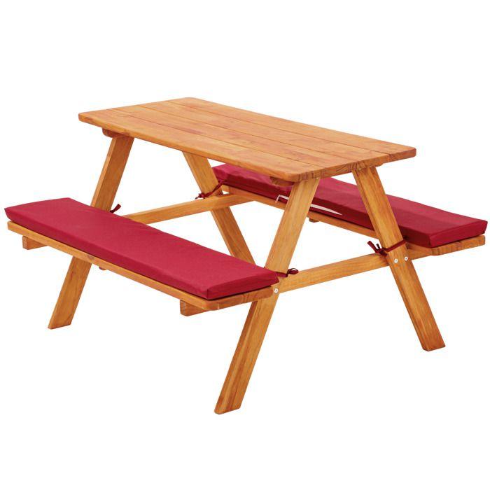 Table en bois avec banc pour enfant - Achat / Vente pas cher