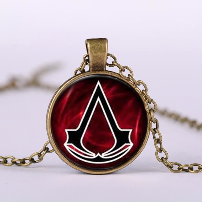 collier pendentif rond homme