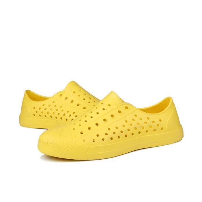 Hommes Femmes Unisexe Classique Occasionnel Chaussures Couple Plage Sandale Tongs Chaussures Noir fuStwi