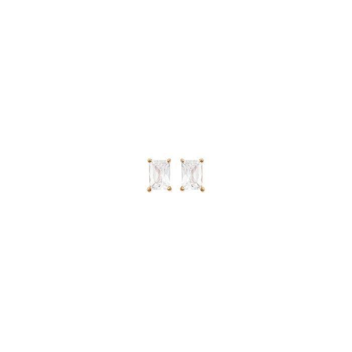 Isady - Maxie Gold - Boucles doreilles - Plaqué or jaune 18K - Clous doreilles - Oxyde de zirconium