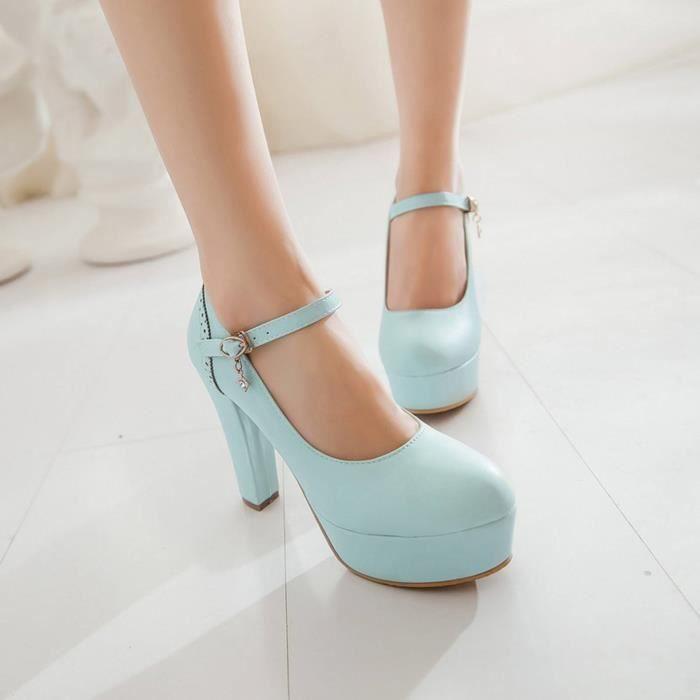 Chaussures Femme à Serres Mode Doux élégant Mariage Fermeture Lacets gFGYbxObcb