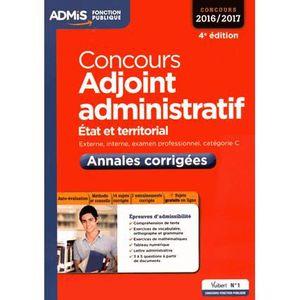 LIVRE DROIT PUBLIC Concours adjoint administratif 2016/2017