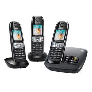 Téléphone fixe Gigaset C620A Trio Téléphone sans Fil Répondeur No