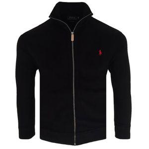 MANTEAU - CABAN Veste zippée Ralph Lauren Veste homme RF18 noir 9f2d770d3a8
