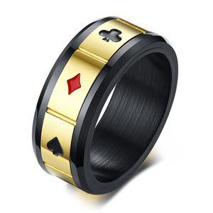 dfe1332d78d59 BAGUE - ANNEAU UMtrade 8MM Hommes Acier inoxydable Bagues poker F