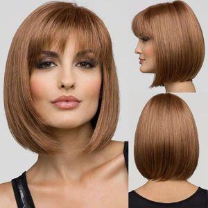 Perruque femme cheveux naturels courts