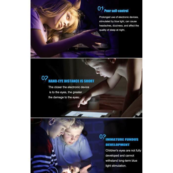 Lunettes de Vue Filles et Garçons (Transparent ) Blue Frame Lentille Claire Cadre de Lunettes pour Enfants