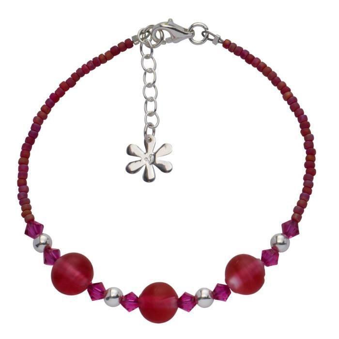 Bracelet - Argent 925 - Cristal - 21.0 Cm - 51005 KBQGN