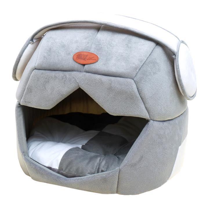40 * 38cm Forme De Casque Spatial Confortable Pet Lit Respirant Chats Chiens Maison - Gris S