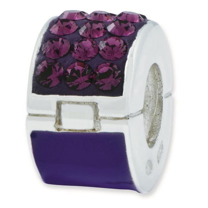 De réflexions en argent Sterling perle de Swarovski élément violet