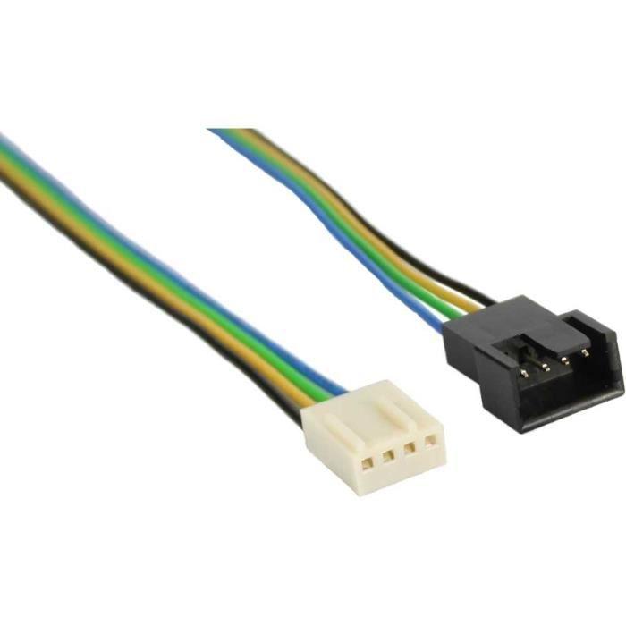 CÂBLE INFORMATIQUE InLine® câble pour ventilateurPWM, 4 broches Mole