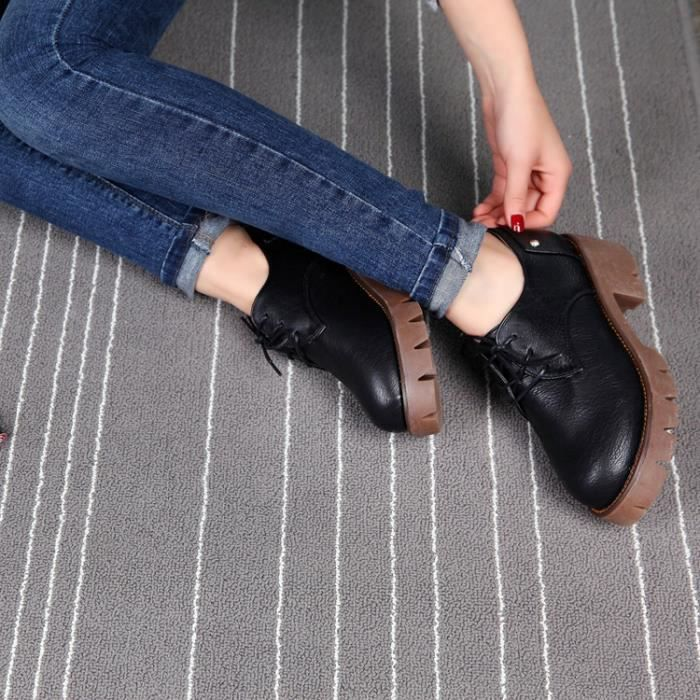 nouvelle leasure semelles paisses chaussures paisses de talon de la femme