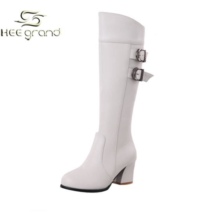 bottes femme blanches cuir