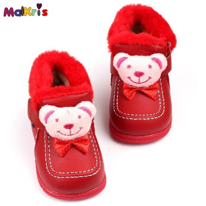 Bottes de neige cuir bébé bottes hiver Bear cha... 6kvc8