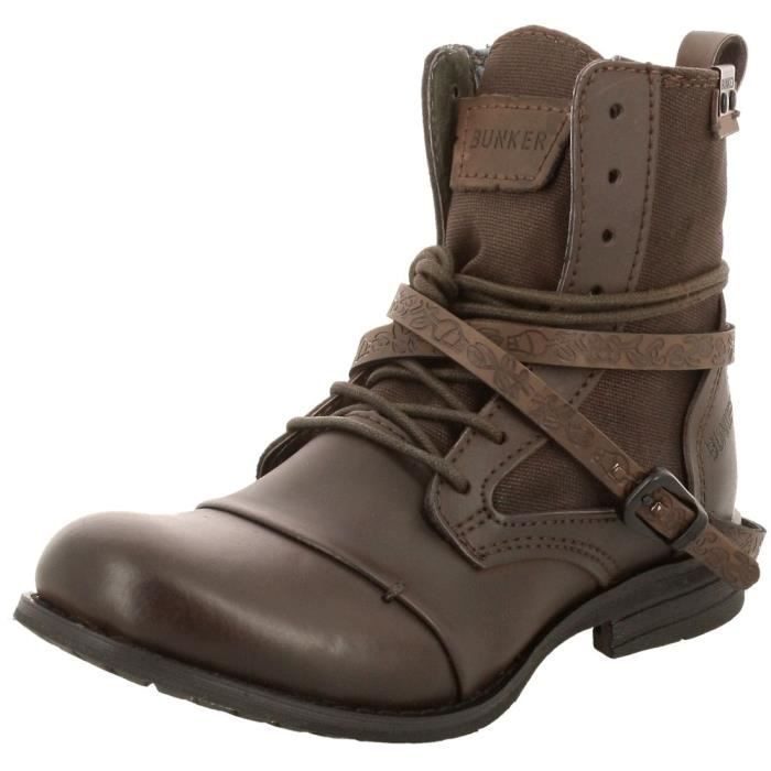 boots chaussures bunker homme