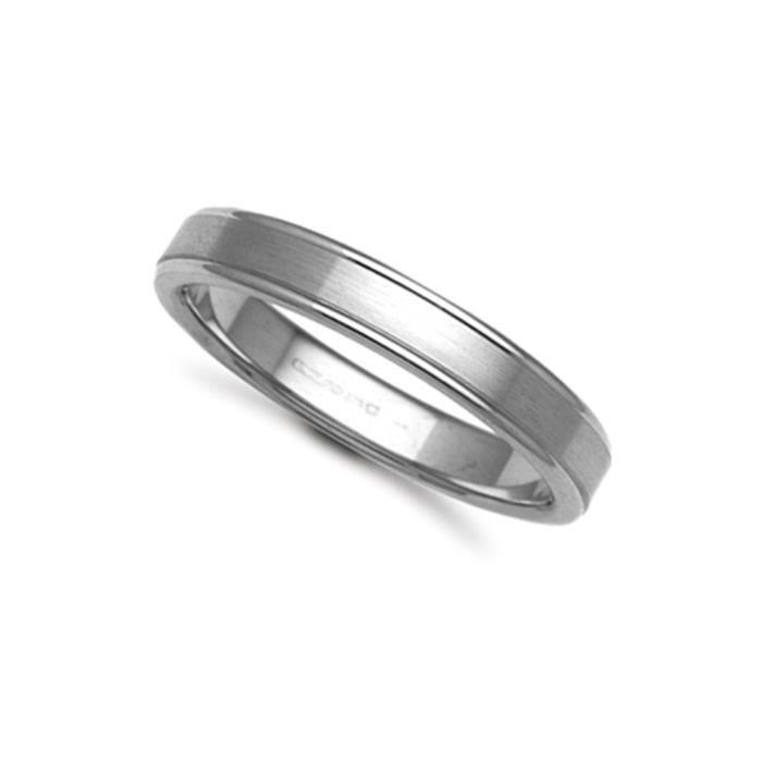 Jewelco Londres 18K à la main en or blanc bague de mariage de cour plat 4mm