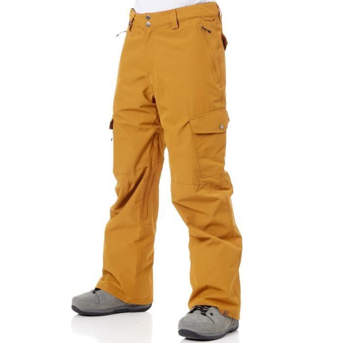 36f230bed708b Pantalon Snowboard Quiksilver Porter Golden Brun - Prix pas cher ...